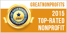 GreatNonprofits 2015 Top Rated Badge
